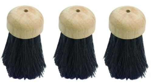 3 Replacement Round Companion set Hearth fireplace Brush Head Refill brushes