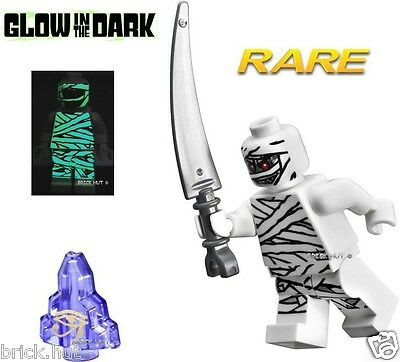 LEGO MONSTER FIGHTERS - MUMMY GLOW IN THE DARK FIGURE + MOONSTONE - V.RARE - NEW
