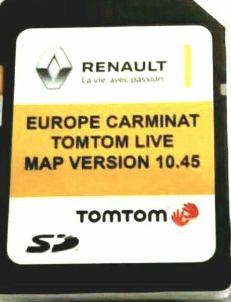Renault Tomtom Carminat Tarjeta SD GPS Europe 2020-10.45