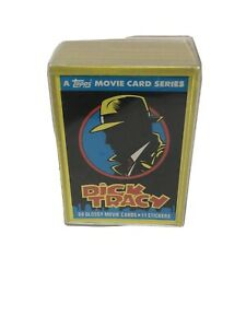 1990-Dick-Tracy-Movie-Complete-Trading-Card-Set-of-88-Cards-amp-11-Stickers-Topps