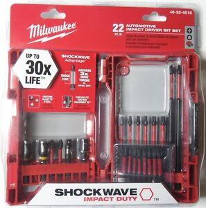48-32-4016 Milwaukee Shockwave Impact Duty Driver Bit Set 22-Piece