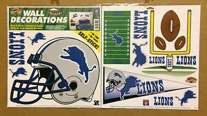 Detroit-Lions-NFL-Football-self-stick-WALL-DECORATIONS-by-Color-Clings