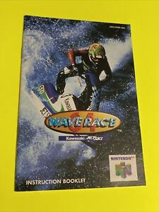 💦 WAVE RACER 64 - Instruction Booklet Manual Original Book Nintendo N64 🔥