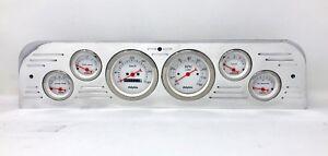 Details about 1966 GMC Truck 6 Gauge Metric Dash Panel Insert Set Billet  Aluminum White
