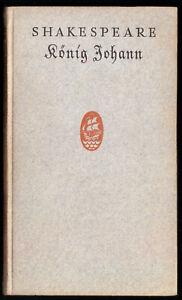 Shakespeare-William-Koenig-Johann-Insel-Verlag-1924