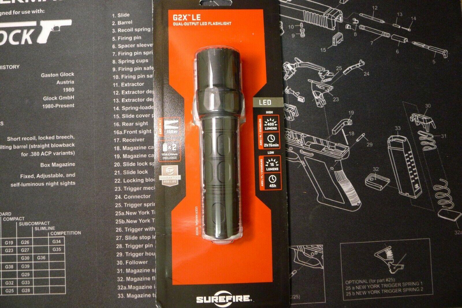 *Worldwideshipping* Surefire G2X LE 400/15lm LED flashlight
