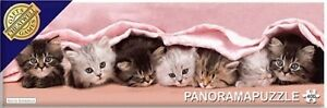 Panoramapuzzle 'Snuggled Up' Kittens - Jigsaw Puzzle