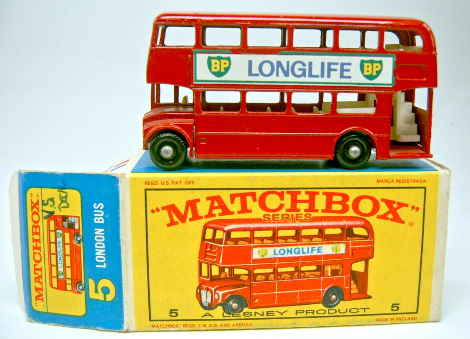 Matchbox RW 05d London Bus  Longue Durée   Exécution Top dans  E  BOX  magasin en ligne