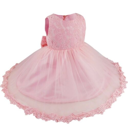 Baby Flower Girls Dress Bridesmaid Party Wedding Dress Gown Princess Christening