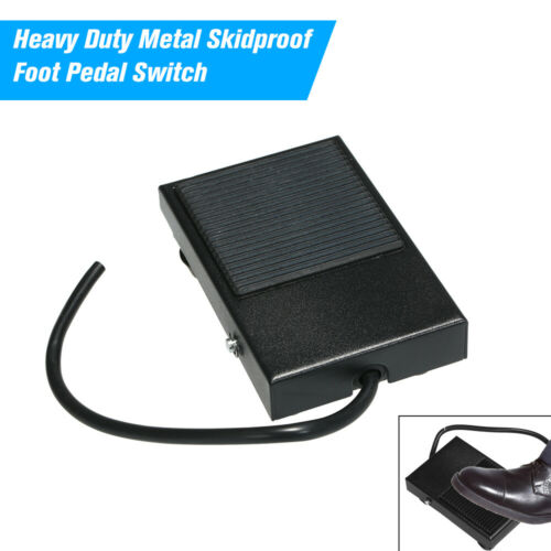 Metal Skidproof Foot Pedal Switch Treadle Control 3 Wire NO//NC Auto Reset L9M2