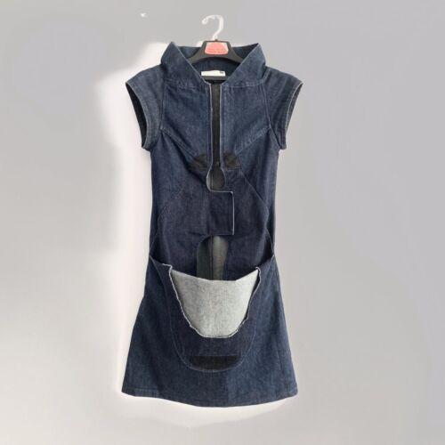 Vtg VEXED GENERATION Denim Dress 90s size S urban