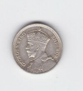 New Zealand 1933 Silver Threepence shows 8 Pearls NZ  L-121