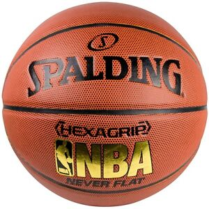 Spalding NBA Hexagrip Composite Leather Never Flat Basketball (SIZE 7) | NEW!