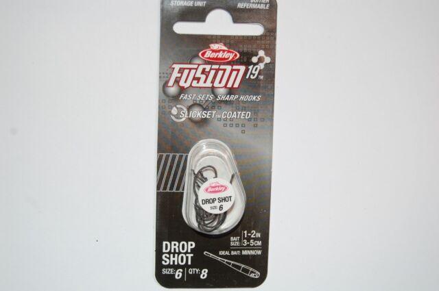 berkley fusion 19 bass crappie drop shot hook size 6 high carbon steel slickset