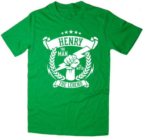 The Man Henry Christmas gift idea 6 colours The Myth The Legend T-Shirt