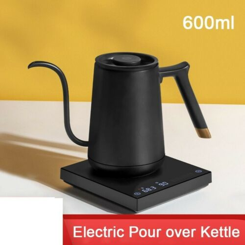 Electric Pour Over Kettle Variable Temperature Control Hand Brew Coffee Pot Kit BLACK 600ML,WHITE 600ML,BLACK 800ML