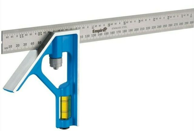 Empire COMBINATION SQUARE 300mm Metric/Imperial Graduation,Steel *USA Made