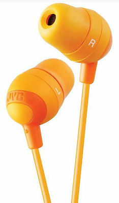 JVC Marshmallow Orange Stereo Memory Foam Earbuds 8 to 20000 HZ from US Seller