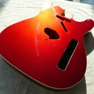 Tele Vintage Style Body 3 Pieces Alder White Bending Candy Apple Red ≦2.3