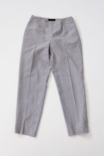 Piazza Sempione Audrey crop pants seersucker gray