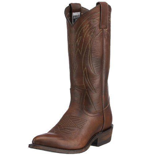 FRYE Womens Billy Pull-On Boot Dark Brown Vintage Calf Shine 6 M US