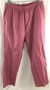 American Sweetheart Stretch Waist Pants Size 20 Mauve Pink Pull On Casual