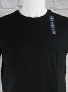 NWT Mens GAP Crew Neck Short Sleeve Everyday T-Shirt Black 100% Cotton - 801850