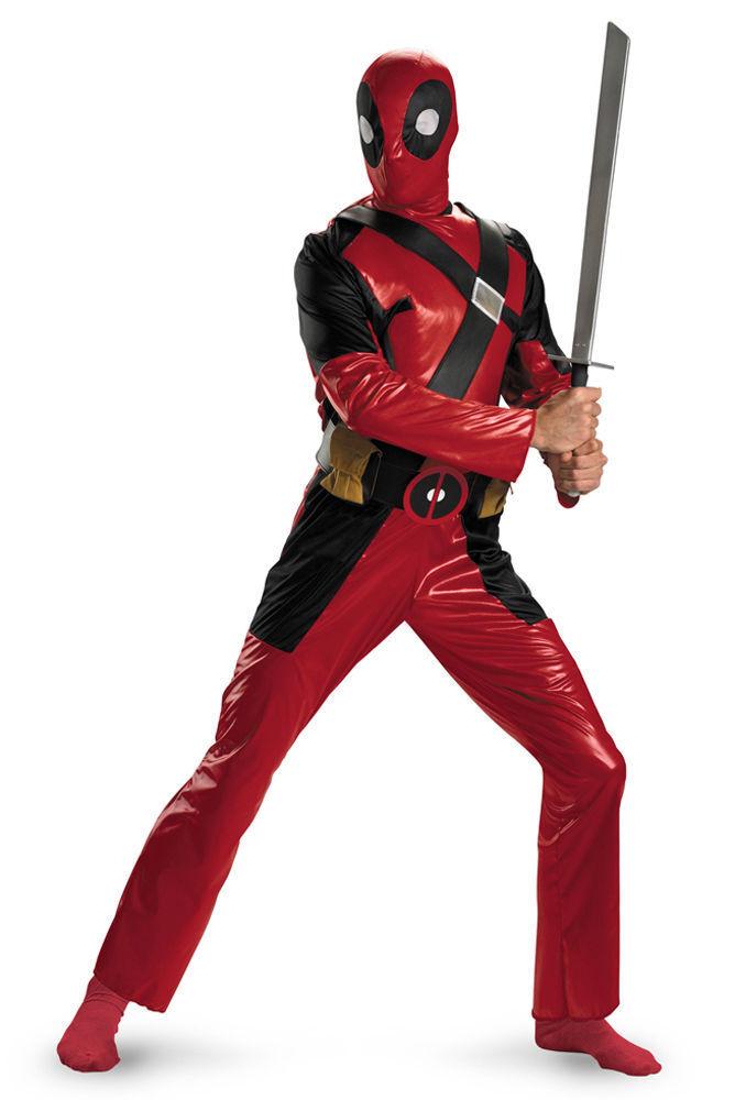 Deadpool Adult XL Marvel Comics Mercinary Anti-Hero Wade Wilson Jumpsuit Costume