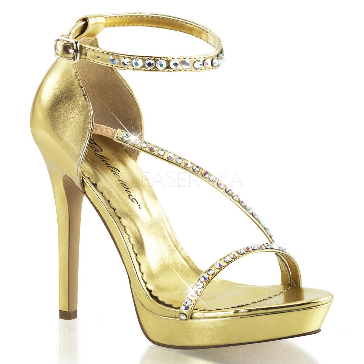 Fabulicious LUMINA-26 LUMINA-26 LUMINA-26 Strappy High Heels Gold Größe UK 6 EU 39 NH08 29 SALEs 1c94d3