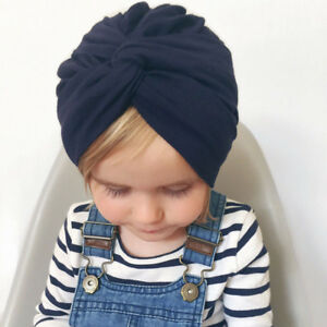f7f95aa0c Details about Infant Baby Girl Children Twist Knot Indian Turban Hat Cotton  Hair Head Wrap Cap