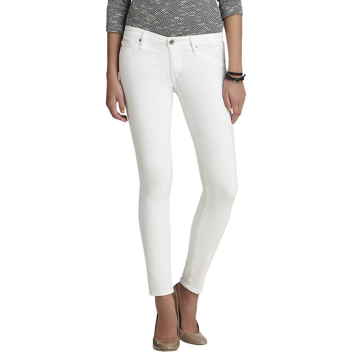 Adriano goldschmied Womens The Legging White Low-Rise Ankle Jeans 28 BHFO 5521