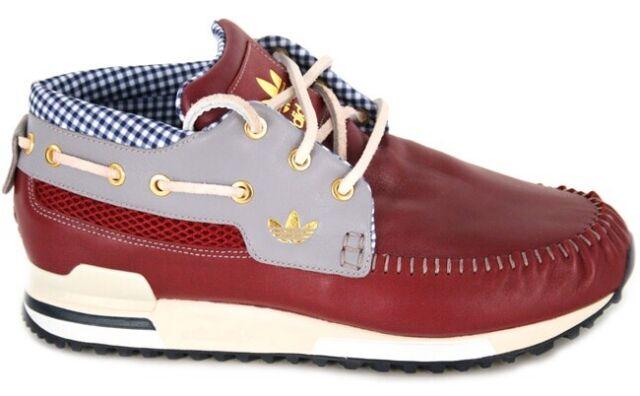 quality design ecef6 6c20f adidas Shoes ZX 700 Boat G20374 Burgundy W Blue Check Men's US 11 EU 45 1/3