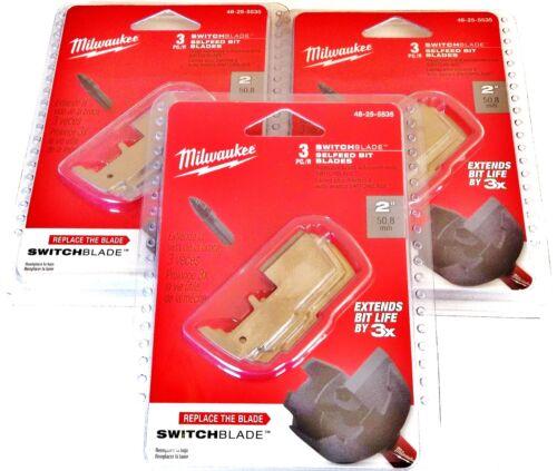 "9 MILWAUKEE 2/"" SWITCHBLADE REPLACEMENT BLADES 48-25-5535 SELFEED BIT 3 PACKS"