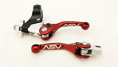 ASV Adjustable F4 Shorty Black Pair Pack Kit Brake Clutch Levers YFZ Raptor