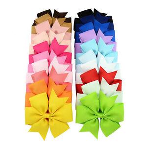 4-5-Inch-Large-Baby-Girls-Hair-Bows-Clip-Kids-Ribbon-Bowknot-Headwear