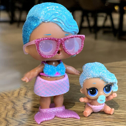 2pcs Real Lol Surprise Doll Glitter Bling Series Splash Queen doll /& Lil Sister