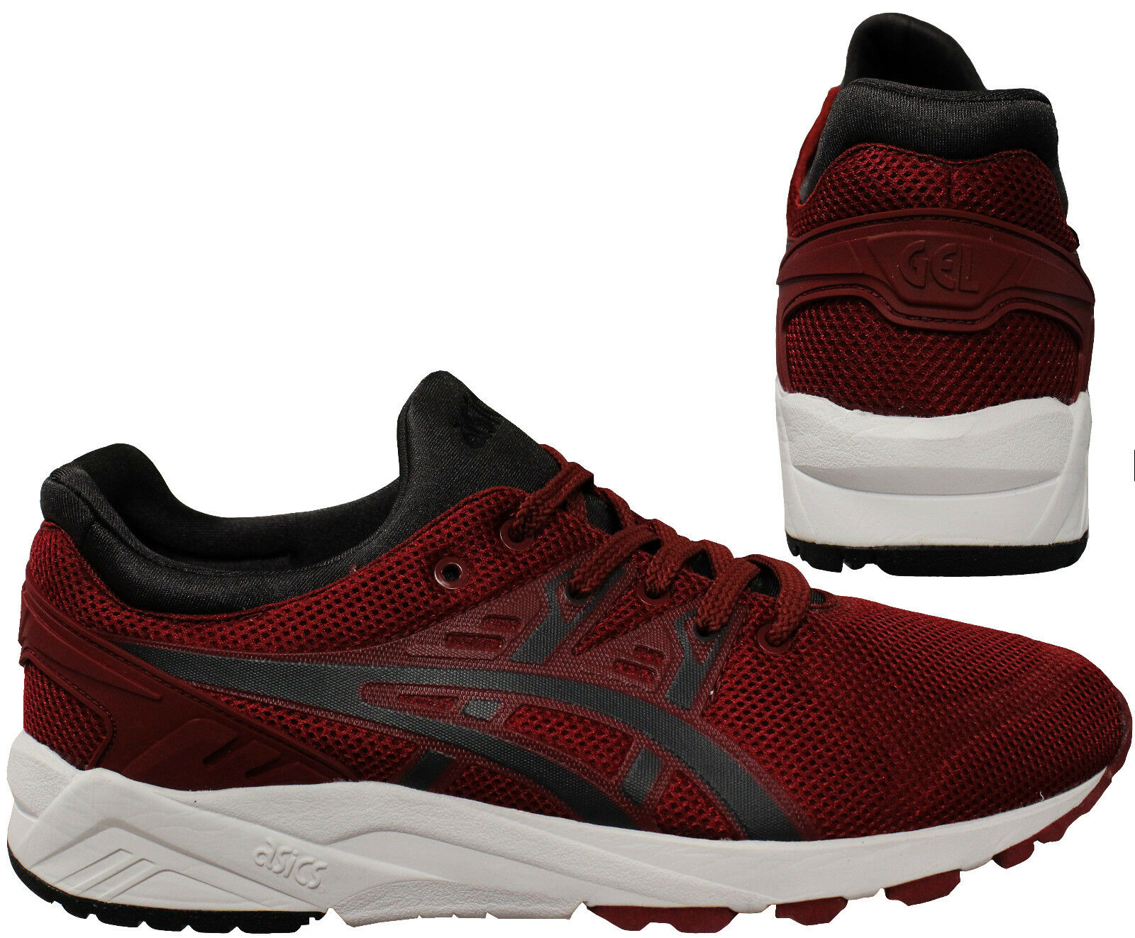Asics Gel Kayano Mens Lace Up Running schuhe Burgundy Trainers H5Y3N 2516 D86