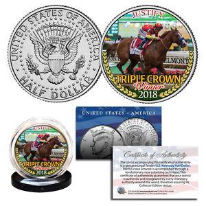 JUSTIFY-2018-TRIPLE-CROWN-WINNER-Race-Horse-JFK-Half-Dollar-Complete-Your-Set