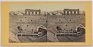 Italia Verona Stereo Vintage Albumina Ca 1865