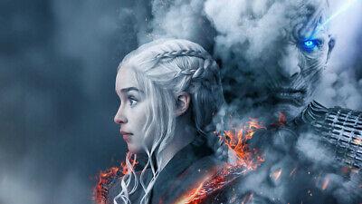 Game Of Thrones Season 8 Daenerys Targaryen Wallpaper Poster 24 X 14 Inches Ebay