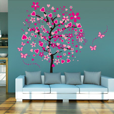 Heart Tree Wall Decals Butterfly Removable Sticker Decor Girls Kids Bedroom New