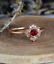 1-6ct-Round-Cut-Red-Garnet-Engagement-Ring-14k-Rose-Gold-Finish-Floral-Solitaire thumbnail 3