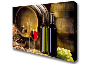French Vineyard With Grapes Large Kitchen Canvas Print XL B1 26x40 inch 12353 - UK, United Kingdom - French Vineyard With Grapes Large Kitchen Canvas Print XL B1 26x40 inch 12353 - UK, United Kingdom