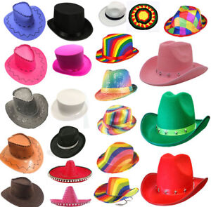 ecdfeb6817f1f Adults Fancy Sequin Fedora Gangster Top Hat Unisex Stag Do Night ...