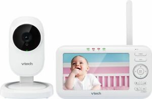 """VTech - Video Baby Monitor with Camera and 5"""" Screen - White"""