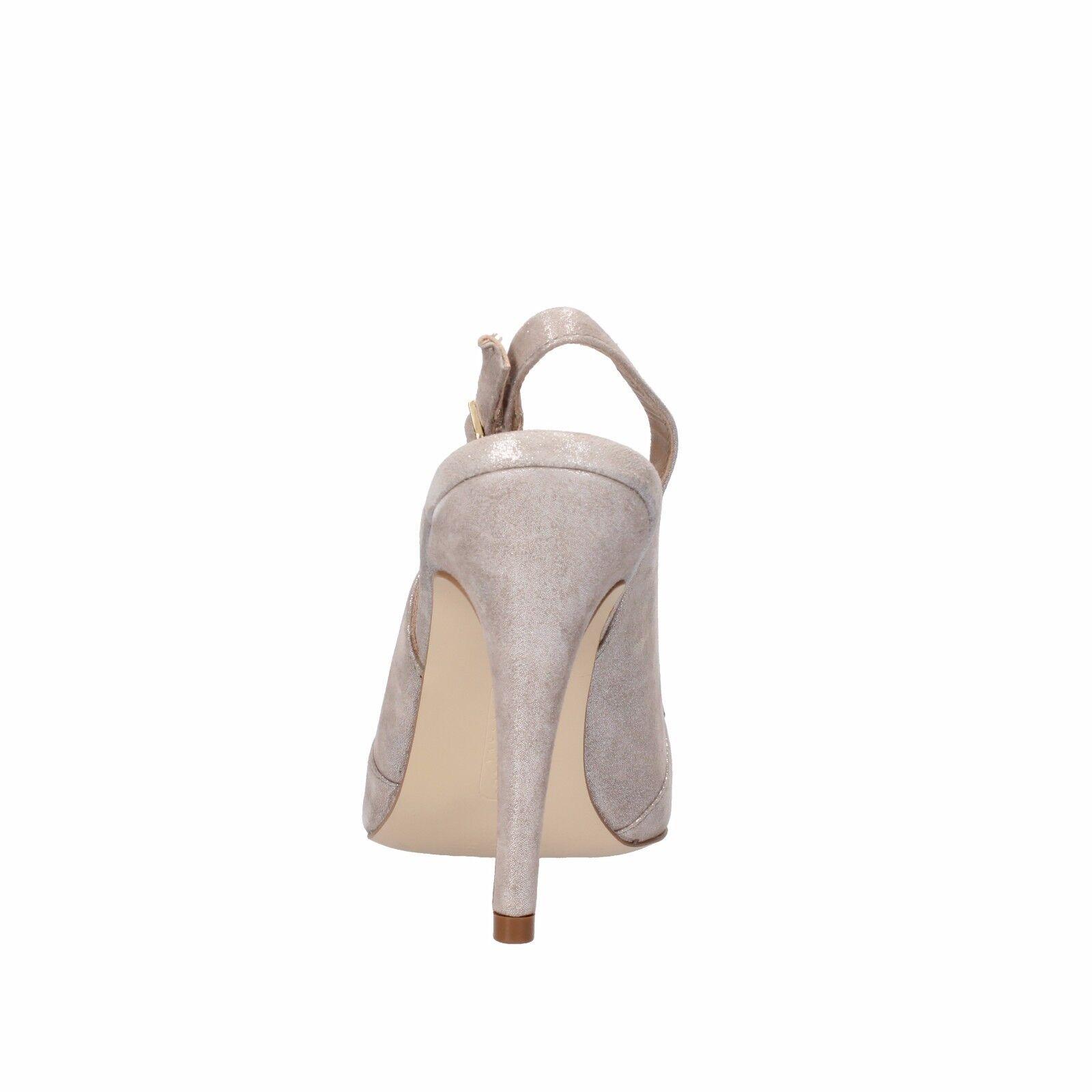 donna CARUomo 38 EU decolte grigio scamosciata pelle scamosciata grigio AF503-C 5ecf8b