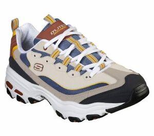 Skechers-Dlites-Brown-Shoe-Men-Memory-Foam-Sport-Comfort-Casual-Train-Walk-52675