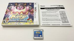 Kirby-Planet-Robobot-Nintendo-3DS-Complete-w-Insert-Tested-amp-Works-FREE-SHIP