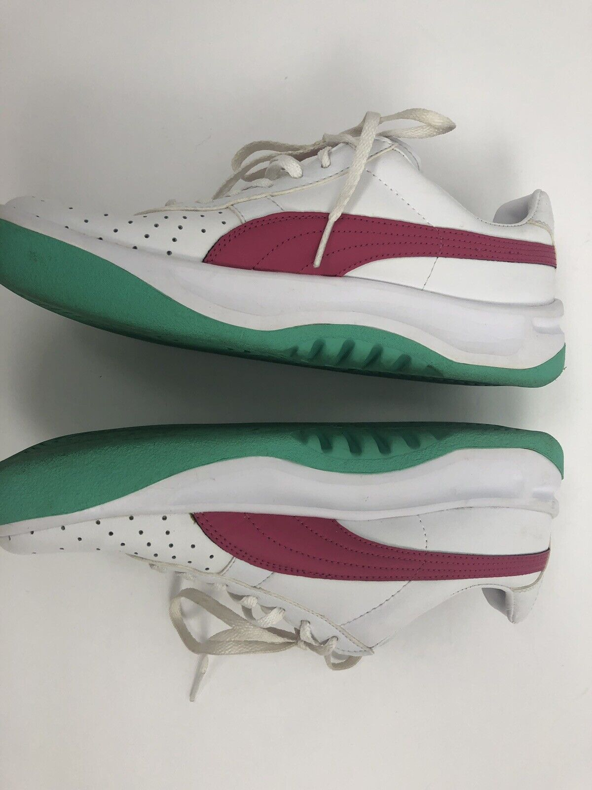 Puma GV Special Men's Shoes Size 6.5 Green Pink Women's FIt Size 8 Sneakers