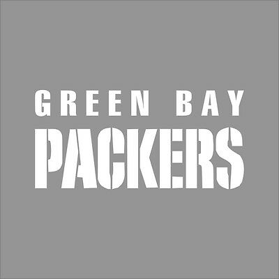 Green Bay Packers #3 NFL Team Logo 1 Color Vinyl Decal Sticker Car Window Wall